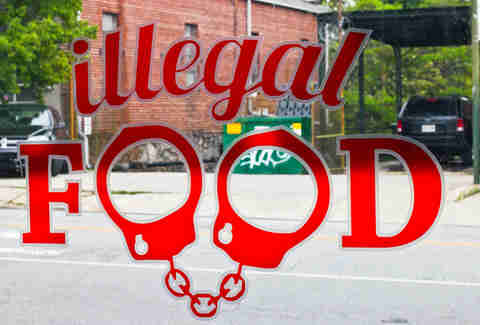 Illegal Food signage