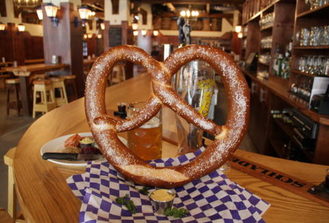 Giant pretzel at Reichenbach Hall