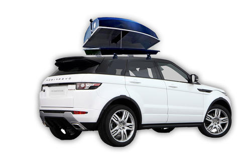 Boatpack on top of an SUV