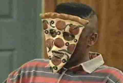 Kel as Pizza Face