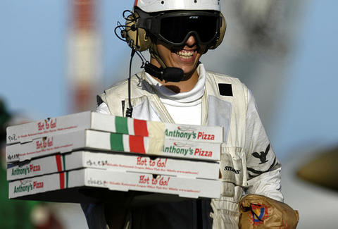 Navy pizza delivery