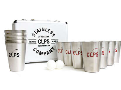 Full beer pong set with case
