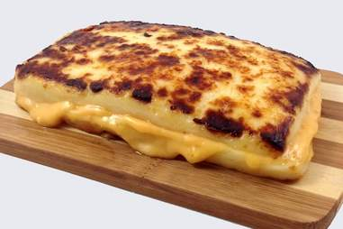 The all-cheese grilled cheese.