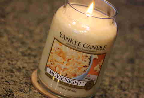 Movie Night candle from Yankee Candle