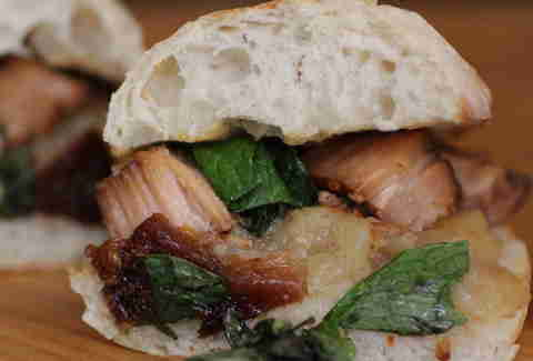 Black Tree Sandwich Shop - The Spring Pig with pork belly