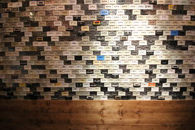 Cassette wall at Southside Spirit House