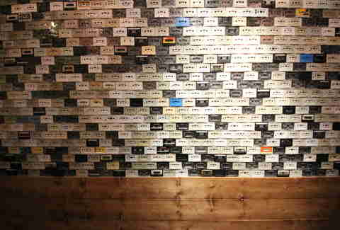 Cassette wall at Southside Spirit House