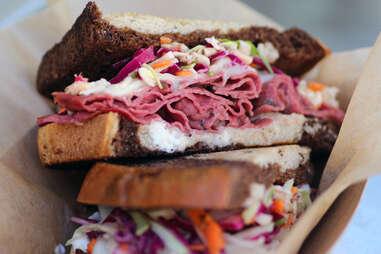 Rueben sandwich from The Fat Shallot food truck