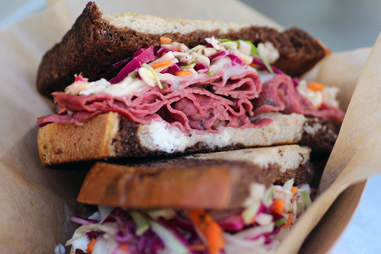 Rueben sandwich from The Fat Shallot food truck