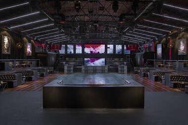 Create Nightclub, center table, in Los Angeles