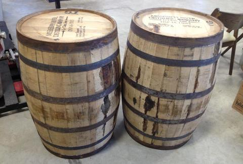 Barrels at Mississippi Distilling