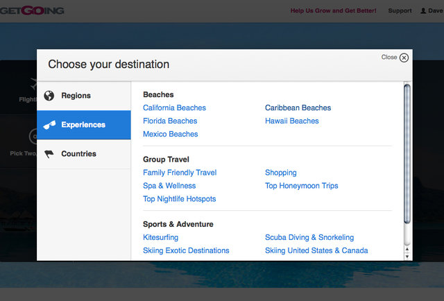 The most dynamic travel search engine ever created lets you gamble on where you\'re going
