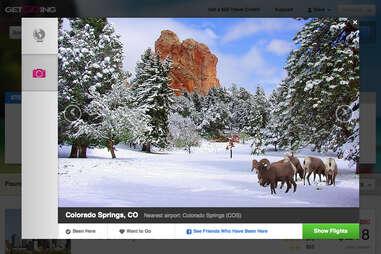 GetGoing's destination picture feature
