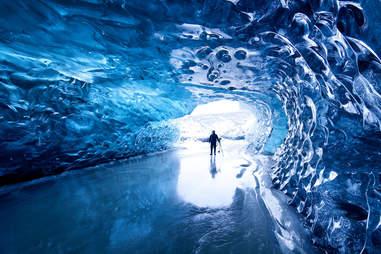 glacier cave, iceland