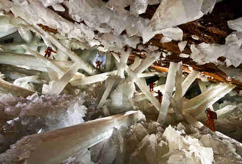 The Crystal Caves in the Naica mine in Mexico