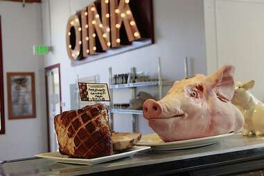 Pig's head at Oink