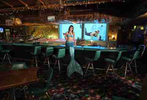 mermaid at bar