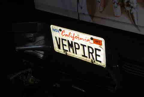 Kung Fu Vampire license plate