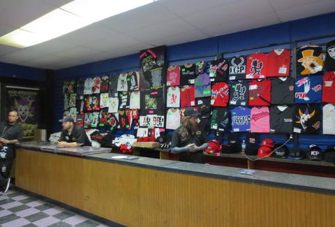 Merch counter at ICP counter