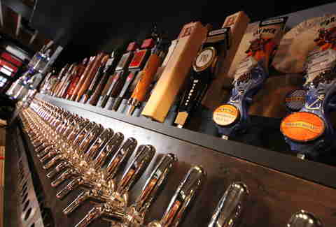 tap handles at Colorado Plus