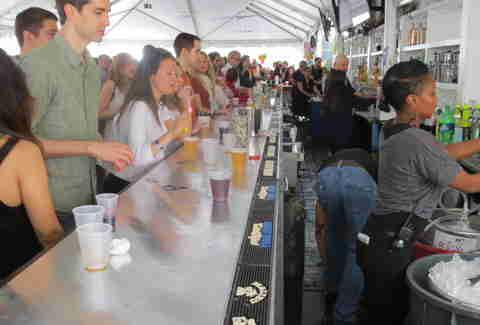 The bar at Beekman Beer Garden