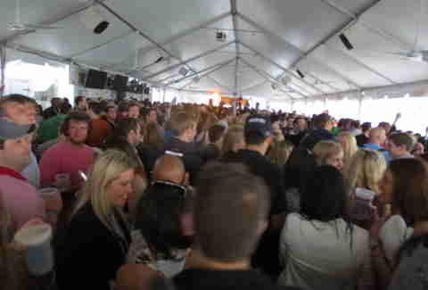 Inside the tent at The Lone Star Chili Cook Off