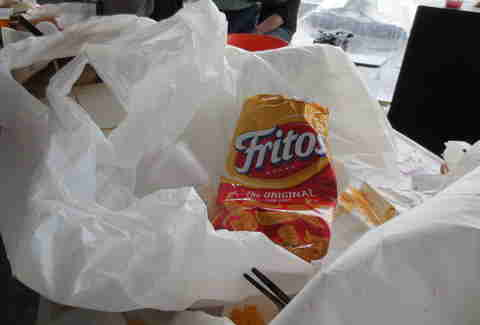 Bag of Fritos at The Lone Star Chili Cook Off