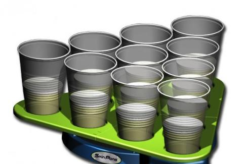 Spin Pong rotating beer tray