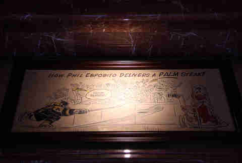 Historic caricature at The Palm Boston
