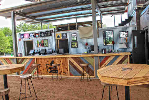 The bar at Coyote Drive-In, Fort Worth, Texas