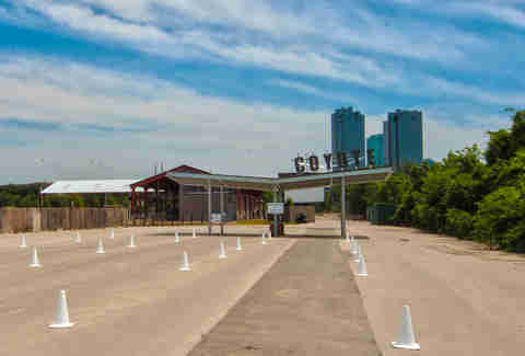 The entrance at Coyote Drive-In, Fort Worth, Texas