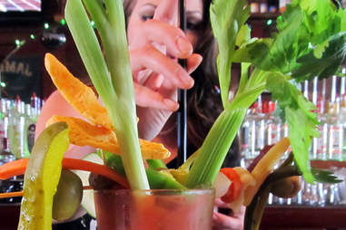 Base ingredients for the most extreme Bloody Mary