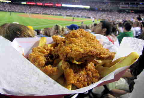 Rocky Mountain oysters at Coors Field