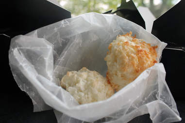 Coconut macaroon cookies from Jerk Jamaican food truck