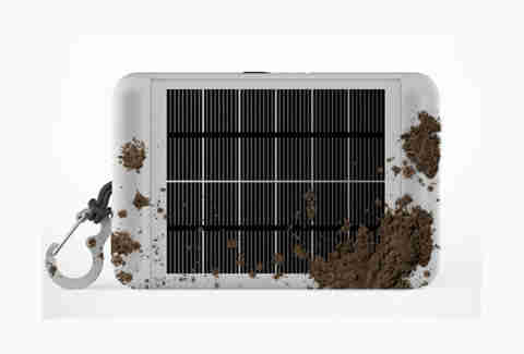 Earl solar panel mudded up