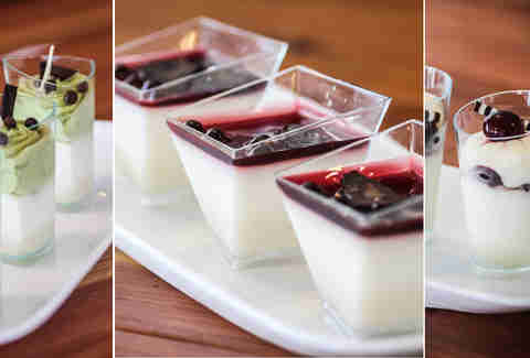 Italian dessert Shots at Piacere Mio in South Park San Diego.