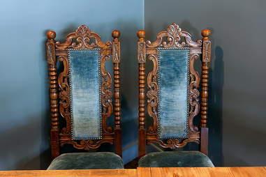 High-back throne chairs at Bronwyn