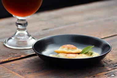 Beer and pierogi at Bronwyn