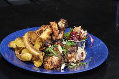 Battery Harris - jerk chicken platter