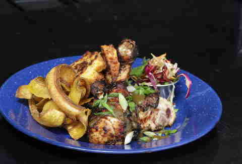 Battery Harris - jerk chicken platter