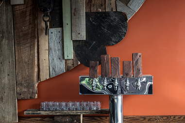 Beer taps at Bronwyn