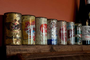 Beer cans at Bronwyn