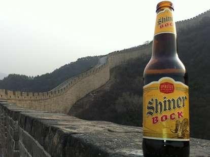Shiner Bock in China