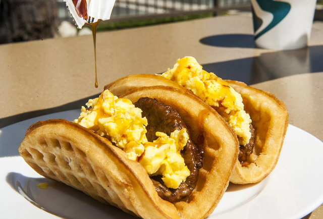 Tasting T-Bell\'s waffle-wrapped, syrup-topped breakfast taco