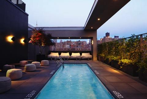 Rooftop pool at Hotel Americano