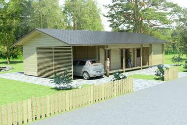 medium sized Glog Home house with carport
