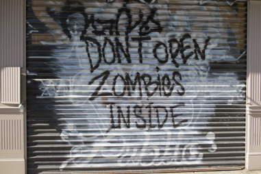 Zombies sign in Nolita