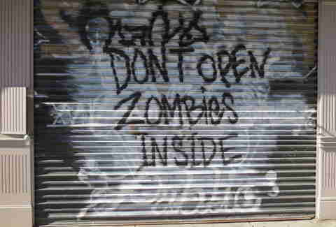 Zombies sign in Nolita