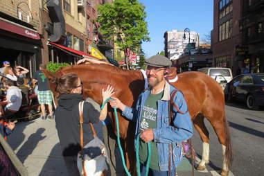 Horse outside Epstein's