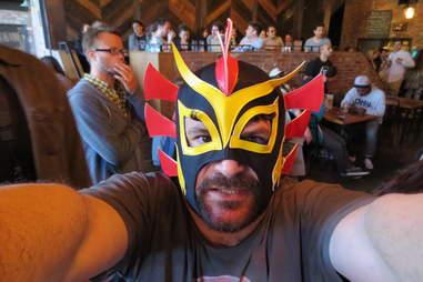 Wrestler mask at Berry Park